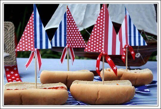 Hot dogs marineros