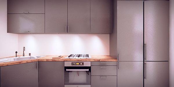Projekt nowoczesnej szarej kuchni - meble na zamówienie MBVision