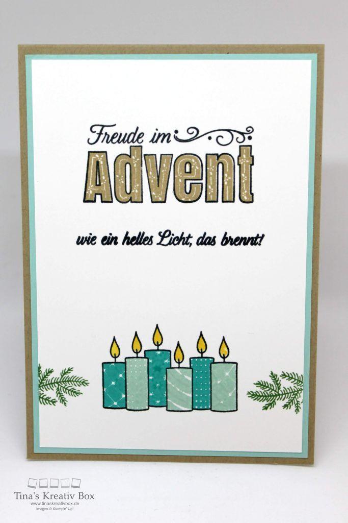 Weihnachtskarte Freude im Advent - mit Produkten von Stampin' Up!