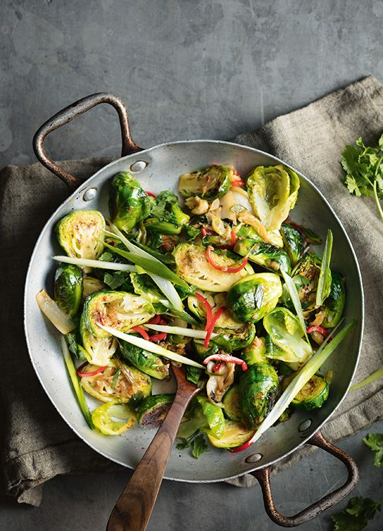 How to make Brussels Sprouts with Kimchi
