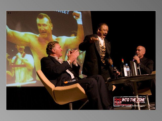 """I got to interview the late great """"Smokin' Joe Frazier, at the black tie 60th birthday dinner for Joe Bugner."""