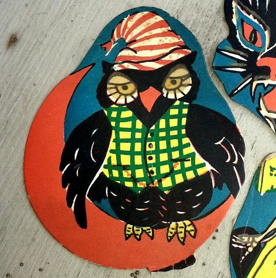 1948 GlowintheDark Halloween Party Decoration OWL