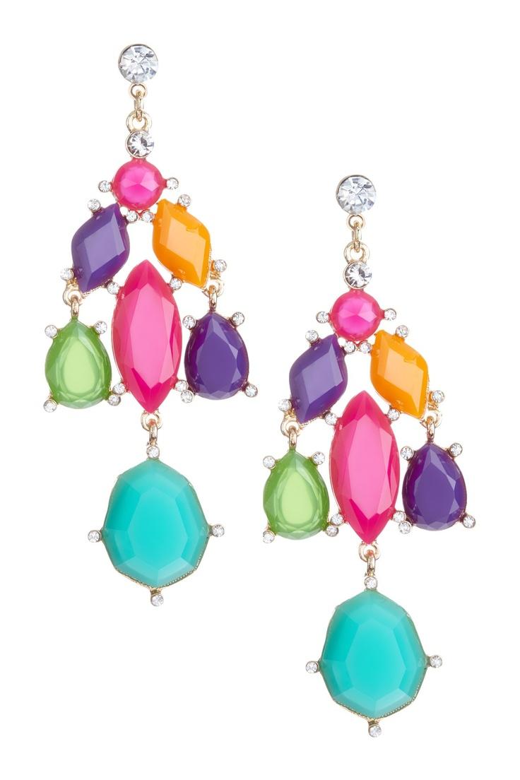 Playful & Pretty Escada Chandelier Earrings