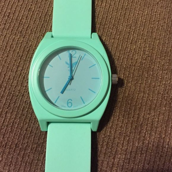 cute American Eagle mint watch This watch was worn a couple times. Battery is dead and uses SR626SW which is available at Walmart. In excellent condition and from American eagle. American Eagle Outfitters Accessories Watches