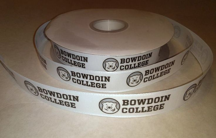 """Bowdoin College Inspired Grosgrain Ribbon: You will receive 2 continuous yards of custom designed and hand-printed 7/8""""… #OnlineMarket"""