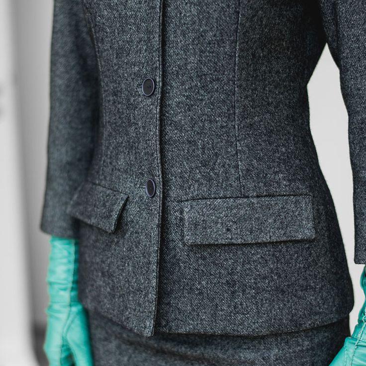 free pattern - Blaugrauer Tweedblazer (23/1)