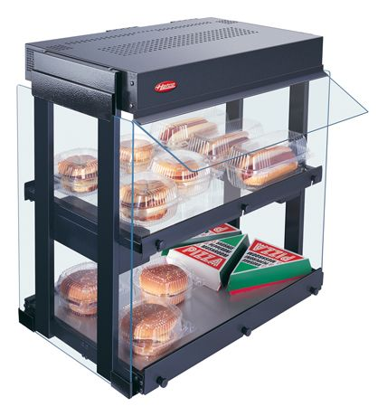 Using a limited amount of counterspace, Hatco's Glo-Ray® Heated Glass Mini-Merchandisers (model shown: GRHW-1SGD) conveniently hold food samples, hors d'oeuvres and packaged food products at just the right temperatures. GRHW-1SGD & GRHW-1SGDS available in North America ONLY. Click to learn more.