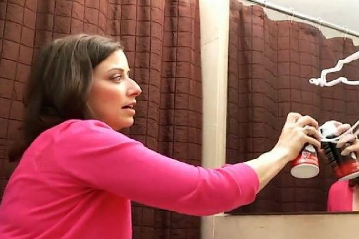 astuce n 39 ayez plus jamais de bu e dans votre miroir de salle de bain astuces pinterest. Black Bedroom Furniture Sets. Home Design Ideas