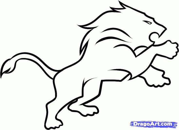 How to Draw the Detriot Lions, Step by Step, Sports, Pop