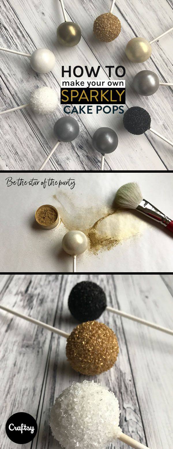 3 Easy, Elegant Ways to Make Sparkly Cake Pops – #…