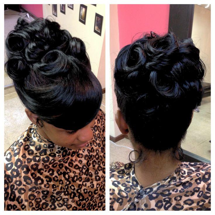 glam prom hair