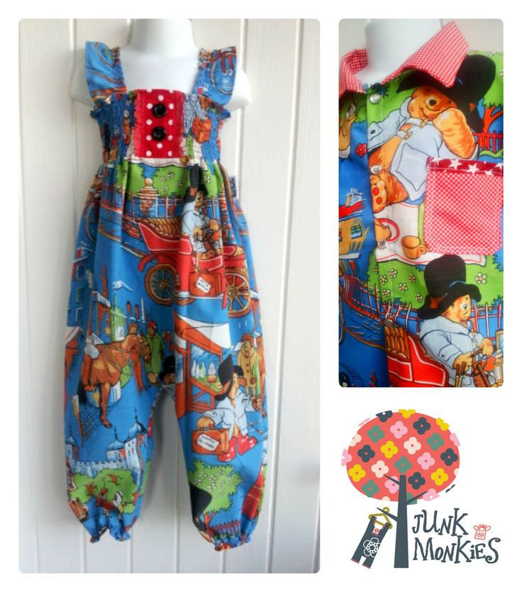 Paddington bear jumpsuit and shirt. baby romper