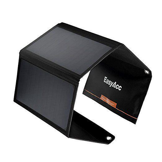 EasyAcc Caricabatteria Solare 4 porte con 28W Alta efficienza SunPower Pannello Solare per iPhone SE, 6s, 6 Plus, iPad Pro / Air / Mini, Galaxy S7, S6 Edge, S6 Plus ed altri: Amazon.it: Elettronica