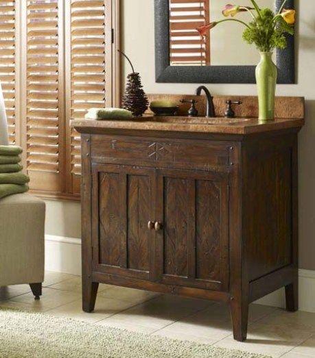 Rustic Bathroom Vanities Dallas Casa Encanta Bathroom