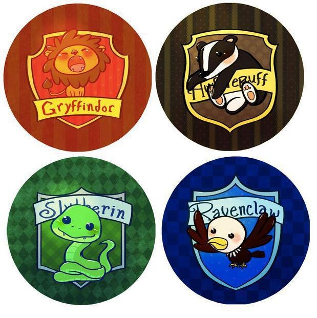 Hogwarts Houses. I can see these patches on a line of baby clothing.