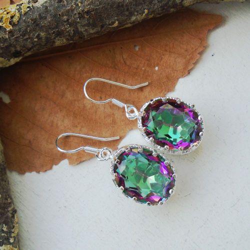 Regenbogen Mystic Topas, Ohrringe, Ohrhänger, Silber plattiert in Uhren & Schmuck, Modeschmuck, Ohrschmuck | eBay!