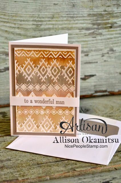 Make your own bohemian designer paper in neutrals using the NEW Bohemian Borders stamp set from Stampin' Up! - Allison Okamitsu