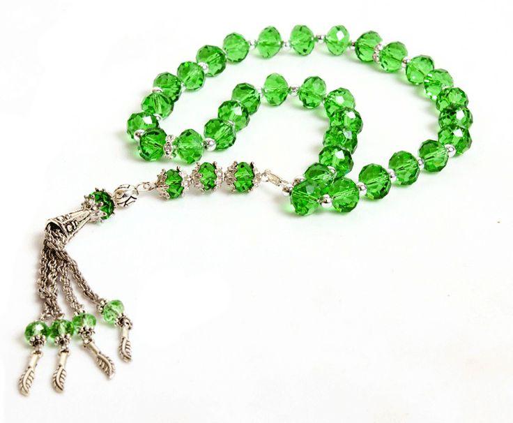 Islamic prayer beads green | Plastic Tasbeeh (33 prayer beads) - Green :: simplyislam.com
