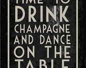Time to Drink Champagne by HelloLoveBoutique on Etsy