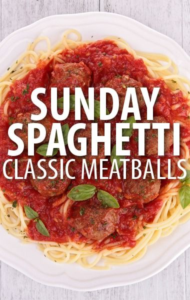 Rachael Ray's Meatball Madness recipe series featured a classic approach to a favorite family dinner with her Sunday Spaghetti & Meatballs Recipe. http://www.recapo.com/rachael-ray-show/rachael-ray-recipes/rachael-ray-meatball-madness-sunday-spaghetti-meatballs-recipe/