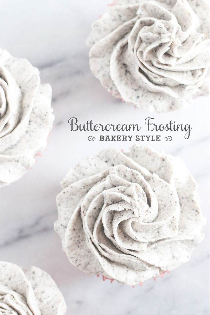 Finally, a REAL recipe for that incredible bakery style buttercream frosting!