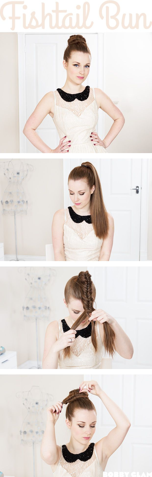 pony hair style best 25 fishtail braid buns ideas on how to 8405