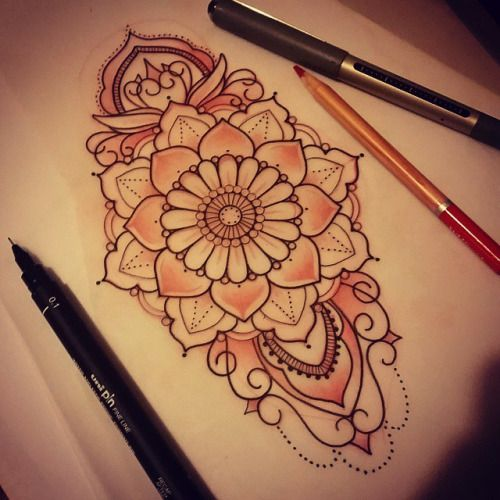 teardrop mandala tattoo - Google Search