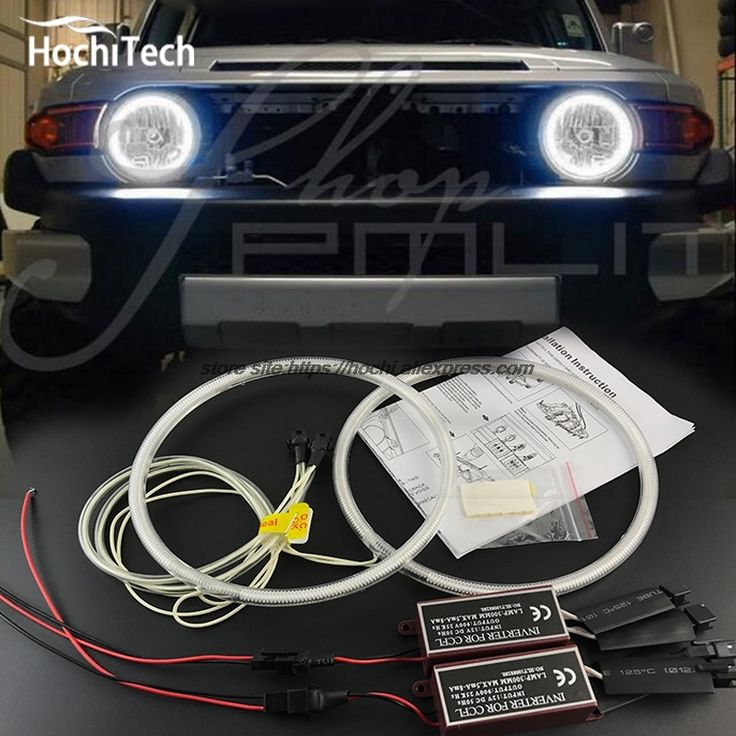 19.62$  Buy now - http://ali0x6.shopchina.info/go.php?t=32787820349 - HochiTech WHITE 6000K CCFL Headlight Halo Angel Demon Eyes Kit angel eyes light For Toyota FJ Cruiser 2007 to 2014  #buyonline