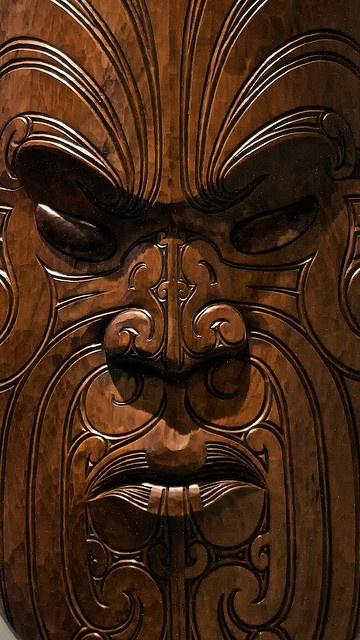 "A Maori Mask...""If walls could speak imagine the stories they would tell"""