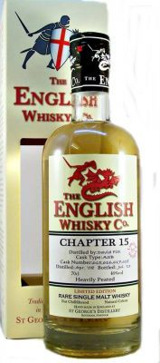 St George's Chapter 15 English Heavily Peated Single Malt Whisky 46% 70c
