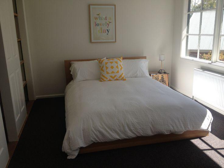 Charcoal dark grey carpet in bedroom Interior
