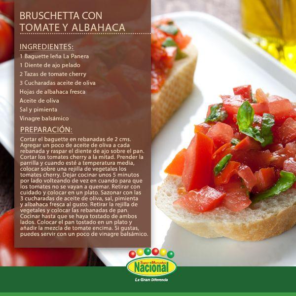 Bruschetta con Tomate y Albahaca. Fuente: http://asados.about.com/