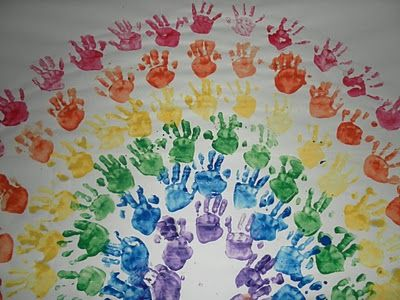 Handprint Rainbows!