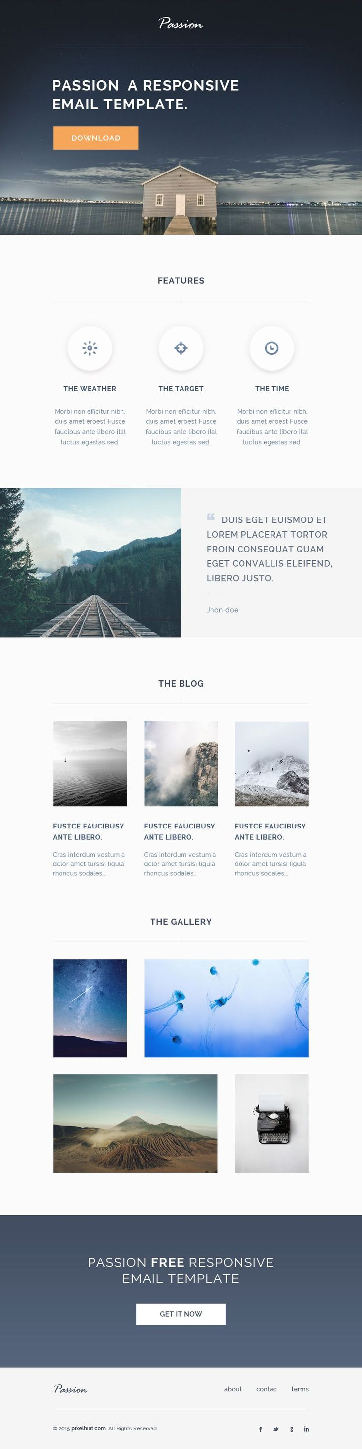 The 25 best free responsive email templates ideas on pinterest passion free html responsive email template pronofoot35fo Choice Image