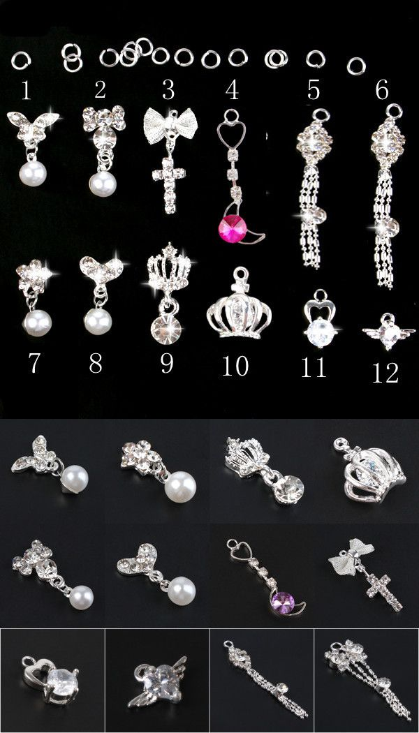 7 best nail charms images on Pinterest | Nail charms, 3d nails and ...