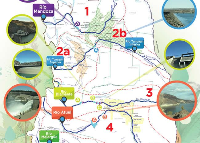 Mapa: ríos de Mendoza – Medios Escolares