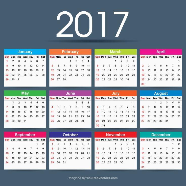72 best 2017 Calendar images on Pinterest Calendar templates - indesign calendar template