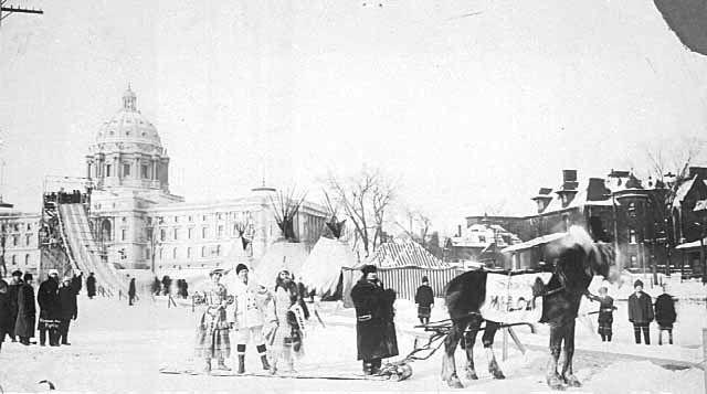 Winter carnival sleigh