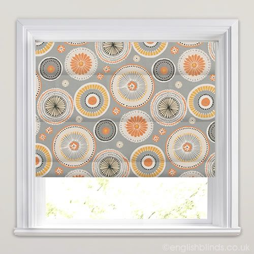 Charnwood Juice Orange Yellow Roman Blinds - Wide