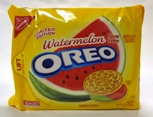 The latest limited edition summer Oreo flavor is Watermelon. Yes, really.   Has anyone tried these?