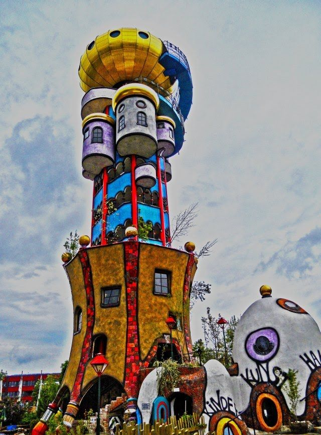 The Hundertwasser tower, designed by Austrian Friedensreich Hundertwasser 3