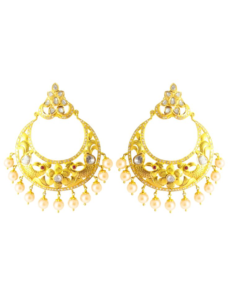 Celebrate being you with #jpearls. To die for #chandbalis