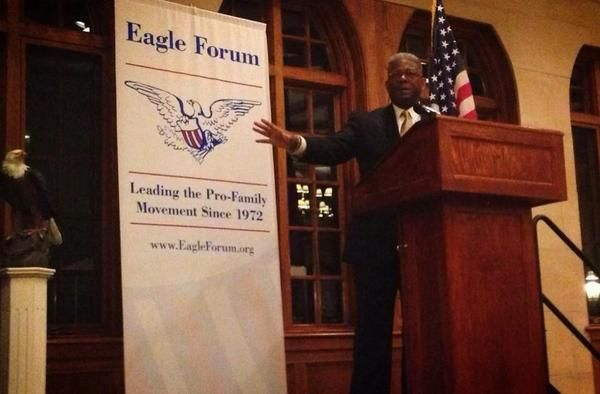 @AllenWest is on fire at the @EagleForum dinner tonight!