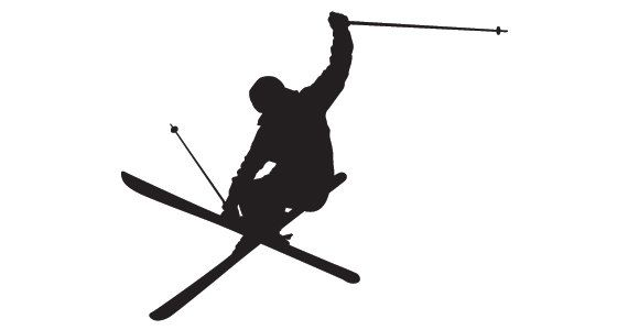 Skiing+Silhouette+Wall+Decal++Teen+Vinyl+Sticker+by+KeyReflection,+$14.00