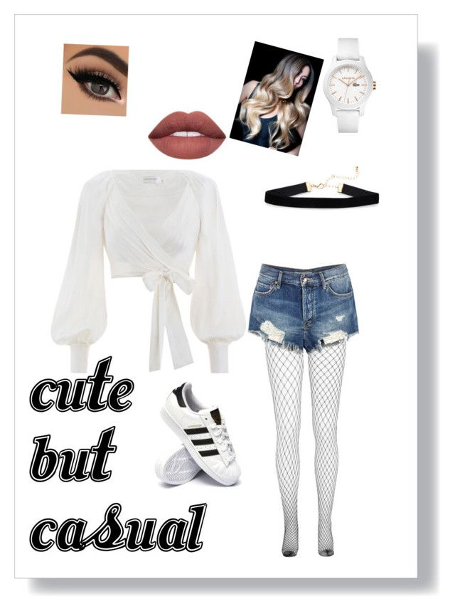 """""""Cute but casual"""" by russell-mina on Polyvore featuring Free People, Zimmermann, Lacoste and adidas"""
