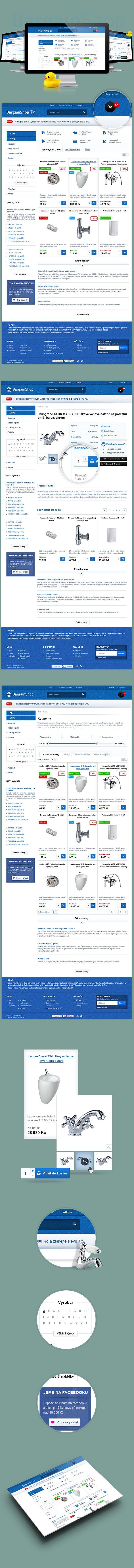Bargainshop.cz by Visualcreative.cz , via Behance