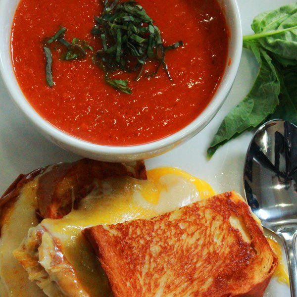Tomato Soup Recipe and Grilled Cheese with Prosciutto | Recipe | Soup ...