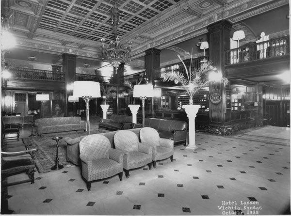 Interior Of Lassen Hotel Lobby With Reception Desk In
