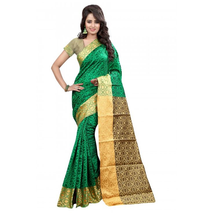 Classy LightGreen Color Cotton Slik Saree at just Rs.925/- on www.vendorvilla.com. Cash on Delivery, Easy Returns, Lowest Price.