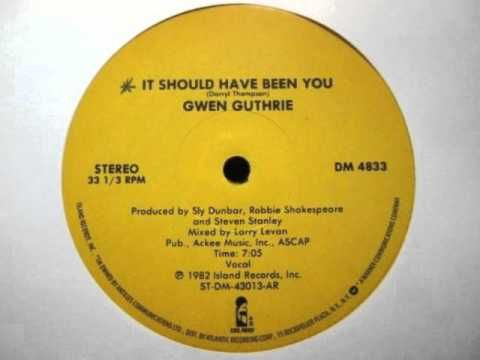 Gwen Guthrie - It Should Have Been You (Original 12'' Version) - YouTube. Timeless like pyramids!